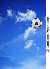 azul, futebol, céu, futebol