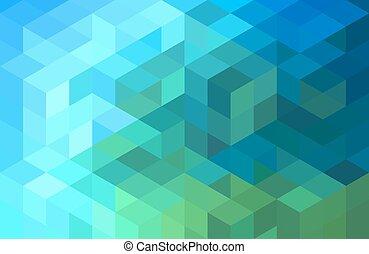 azul, geomã©´ricas, experiência verde