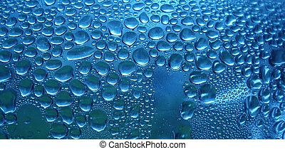 azul, gotas