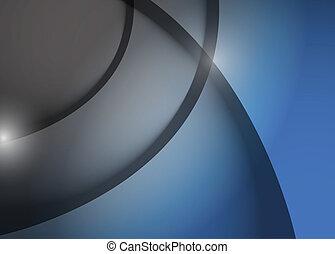 azul, gráfico, linhas, cinzento, ilustração, onda