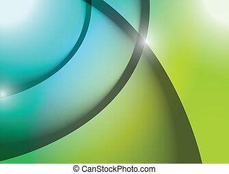 azul, gráfico, linhas, ilustração, onda, verde