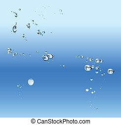 azul, gradiente, abstratos, fundo