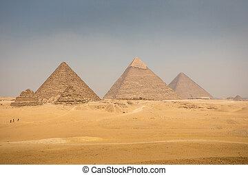 azul, gran pirámide, cielo
