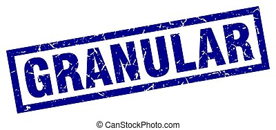 azul, granular, cuadrado, grunge, estampilla