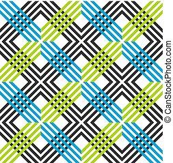 azul, grids., colorido, padrão, abstratos, linhas, seamless, cores escuras, cinzento, fundo, vibrante, verde, listrado, geomã©´ricas