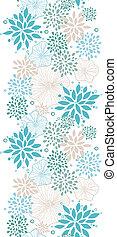 azul, gris, vertical, patrón, seamless, plantas, plano de ...
