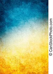 azul, grunge, amarela