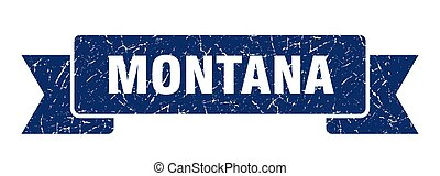 azul, grunge, banda, montana, ribbon., señal