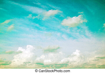azul, grunge, céu
