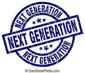 azul, grunge, generación, luego, estampilla, redondo