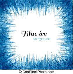 azul, grunge, illustration., abstratos, text., gelo, experiência., vetorial, lugar, fundo, branca, seu