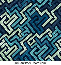 azul, grunge, labirinto, seamless, textura, efeito