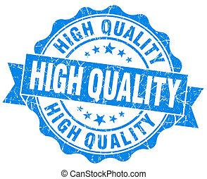 azul, grunge, vendimia, aislado, alto, sello, calidad, ...