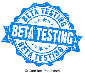 azul, grunge, vendimia, prueba, beta, sello