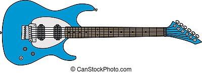 azul, guitarra, elétrico