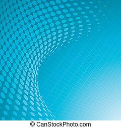 azul, halftone, plano de fondo