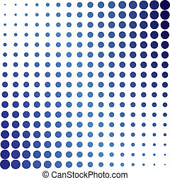 azul, halftone, puntos