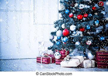 azul harmonizou, natal, estrelas, sala de estar, snow.