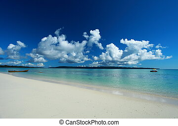 azul, havelock, nubes, cielo, india, andaman, island., islas