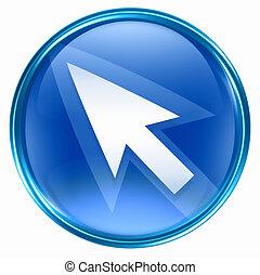 azul, icono flecha