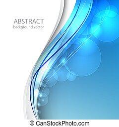 azul, illustration., abstratos, experiência., vetorial, linha