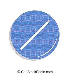 azul, illustration., ciclamino, letrero de gas de neón, pol, vector., píldora, icono