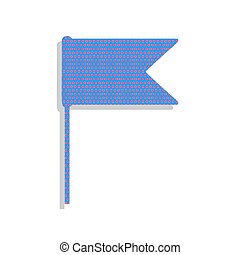 azul, illustration., ciclamino, neón, bandera, señal, pol, vector., icono