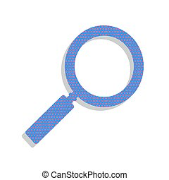 azul, illustration., ciclamino, neón, zumbido, señal, pol, vector., icono