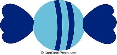 azul, illustration., cor, doce, vetorial, ou