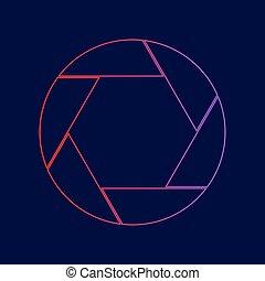 azul, illustration., gradiente, foto, señal, oscuridad,...