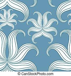azul, illustration., resumen, pattern., seamless, vector, ...