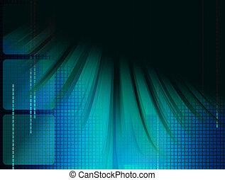 azul, ilustração