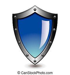 azul, ilustração, prata, vetorial