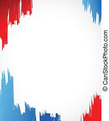azul, ilustración, diseño, tinta, rojo blanco