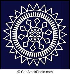azul, imagem, vetorial, fundo, branca, mandala, geomã©´ricas