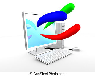 azul, imagen, color, computadora, verde, básico, 3d, rojo