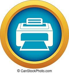 azul, impressora, laser, modernos, isolado, vetorial, ícone
