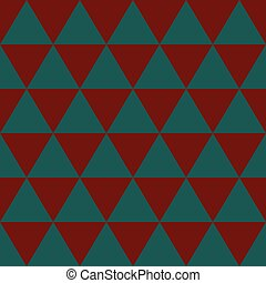 azul, indigo, illustration., experiência., vetorial, triângulo verde, vermelho