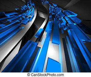 azul, información, tráfico