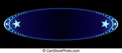 azul, insignia