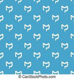 azul, intestino, padrão, seamless, grande, vetorial, human