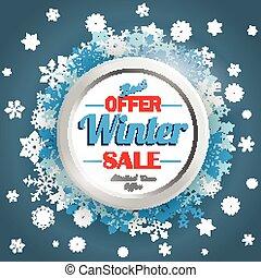 azul, inverno, fundo, sexta-feira, venda, snowflakes
