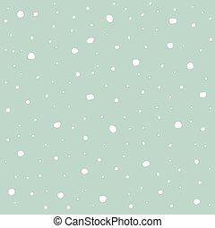 azul, inverno, fundo, snowflakes