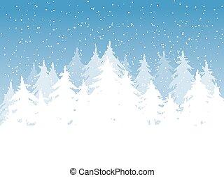 azul, inverno, fundo