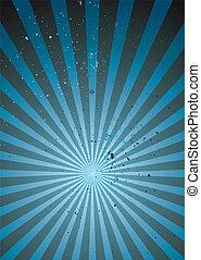 azul, irradiar, grunge, luz