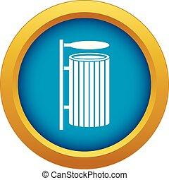 azul, isolado, vetorial, lata, lixo, público, ícone