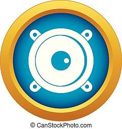 azul, isolado, vetorial, orador, áudio, ícone