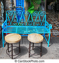 azul, jaffa, tel, vindima, aviv, ferro, mercado pulga, mobília