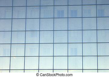 azul, janela, baía