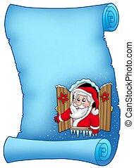 azul, janela, pergaminho, natal